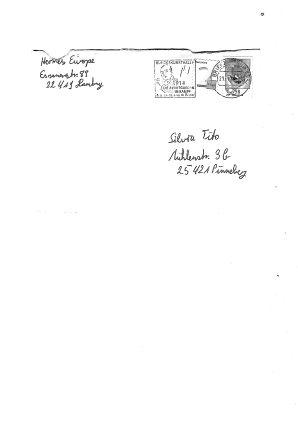 """Dann folgte der anonyme """"Drohbrief"""" im Januar 2014, genau an dem Tag als eine Redaktion wieder einen Film gegen Hermes veröffentlichte: Hier benutzt der fragwürdige """"Bedroher"""" den Absender von Hermes"""
