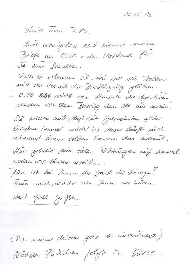 Ruinierte Otto Partnerin an Silvia Tito 2003