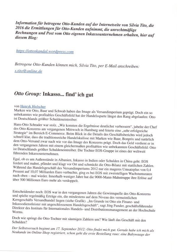 Silvia Tito ermittelt 2016 für betrogene Otto Kunden 1