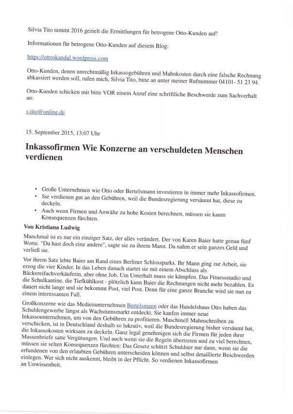 Silvia Tito ermittelt 2016 für betrogene Otto Kunden 3