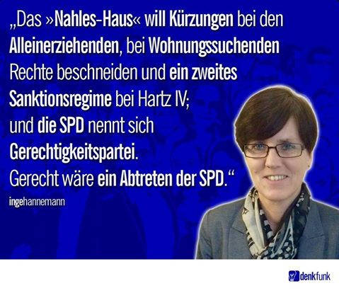 Inge Hannemann setzt sich für Hartz IV Betroffene ein